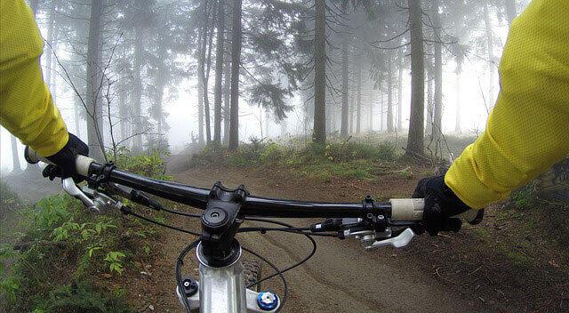 Andar de bicicleta com nervos comprimidos