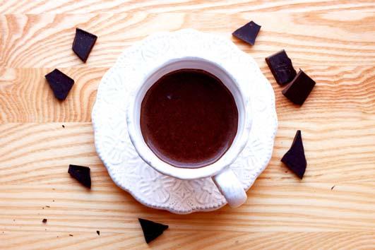 Chocolate quente do bem - Beber chocolate quente e cérebro ativo