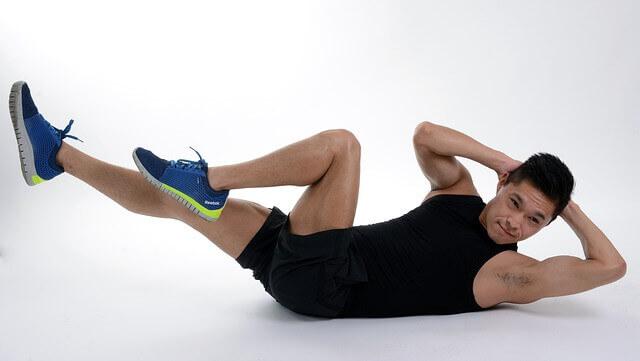 Dor abdominal após um treino